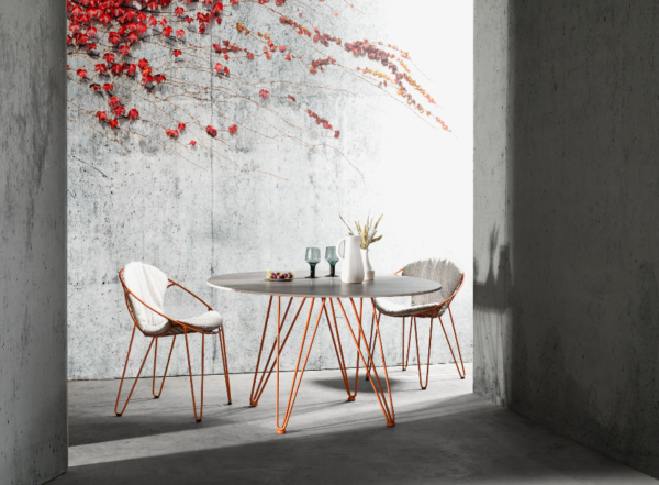 Tafel en stoelen Joli Wire | indoor + outdoor